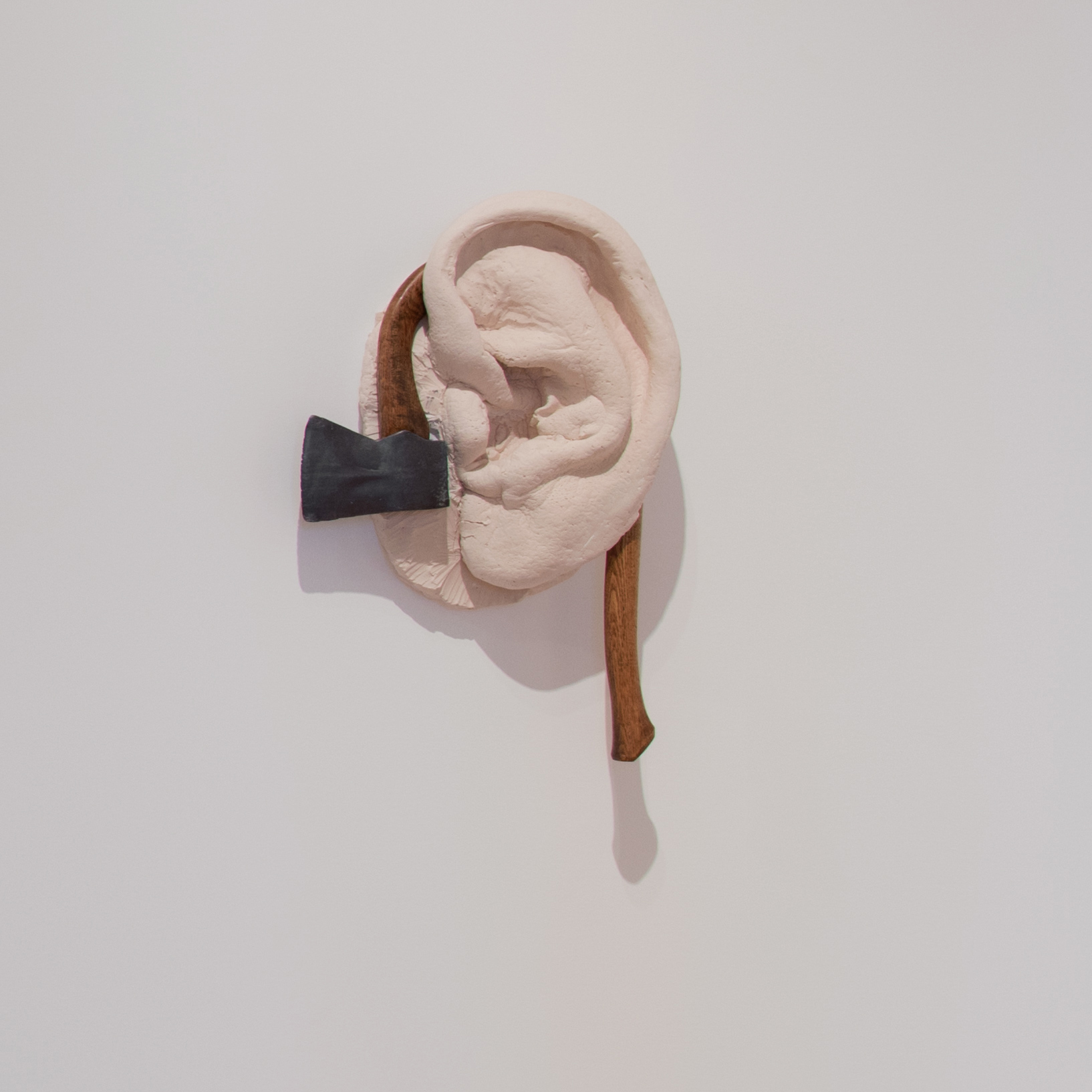 "Robert Gober, ""Untitled, 2012."" Lead,wood, cast gypsum polymer, 28 1/2 x 18 x 7 inches. Hammer Museum, Los Angeles. Promised gift of Brenda R. Potter."