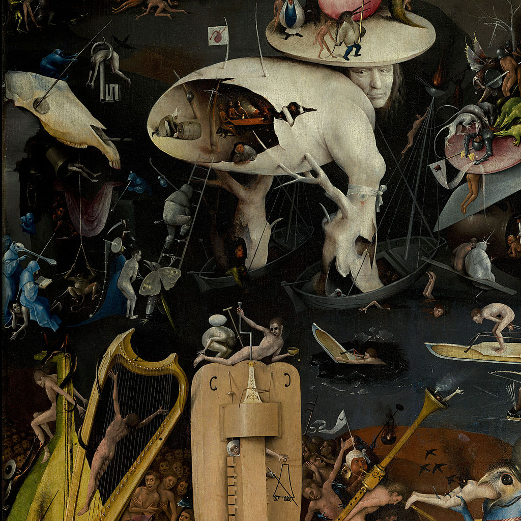 Hieronymous Bosch, The Garden of Earthly Delights detail. Public Domain.