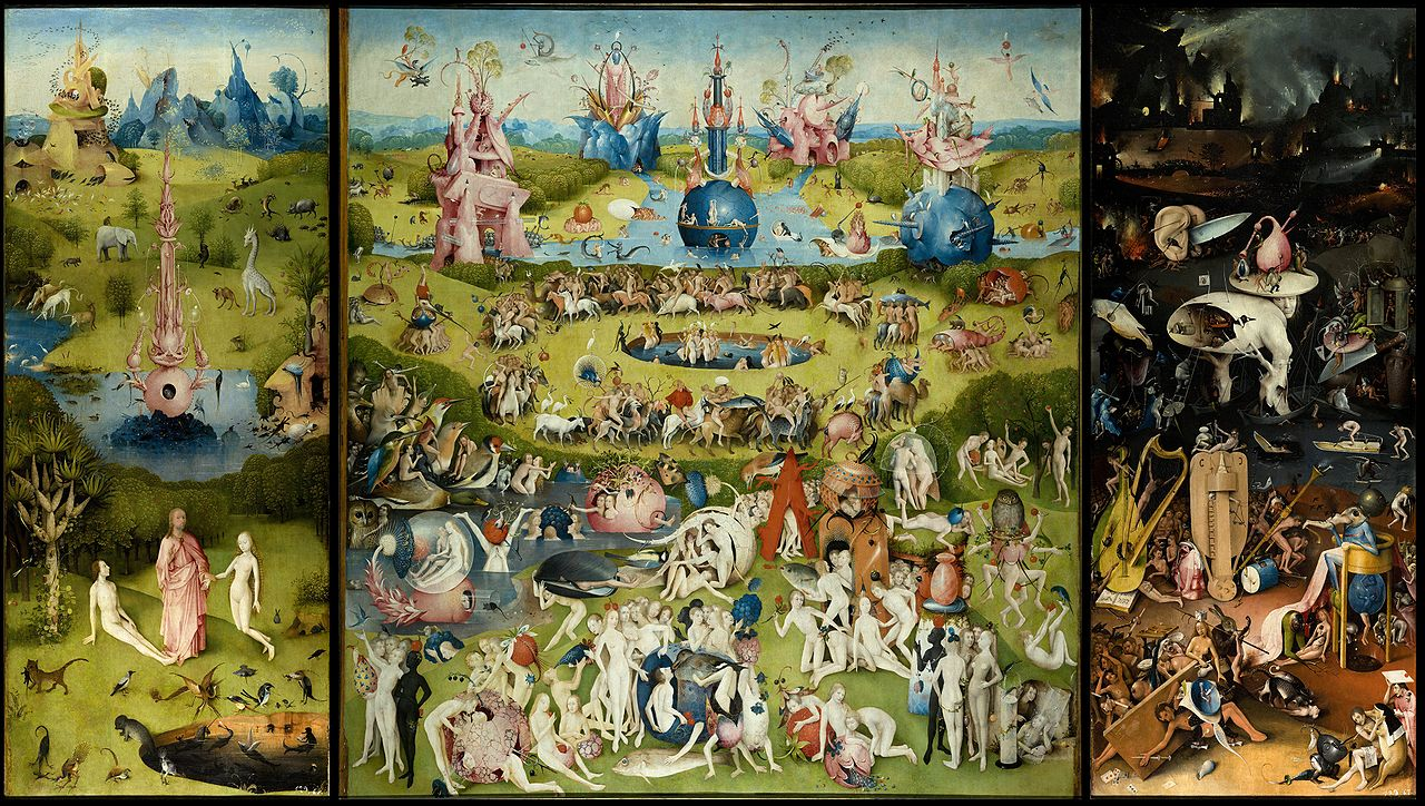 Hieronymous Bosch: The Garden of Earthly Delights. Public Domain