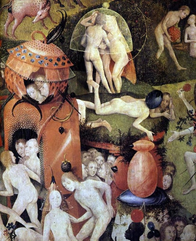 Hieronymous Bosch, detail from Garden of Earthly Delights center panel