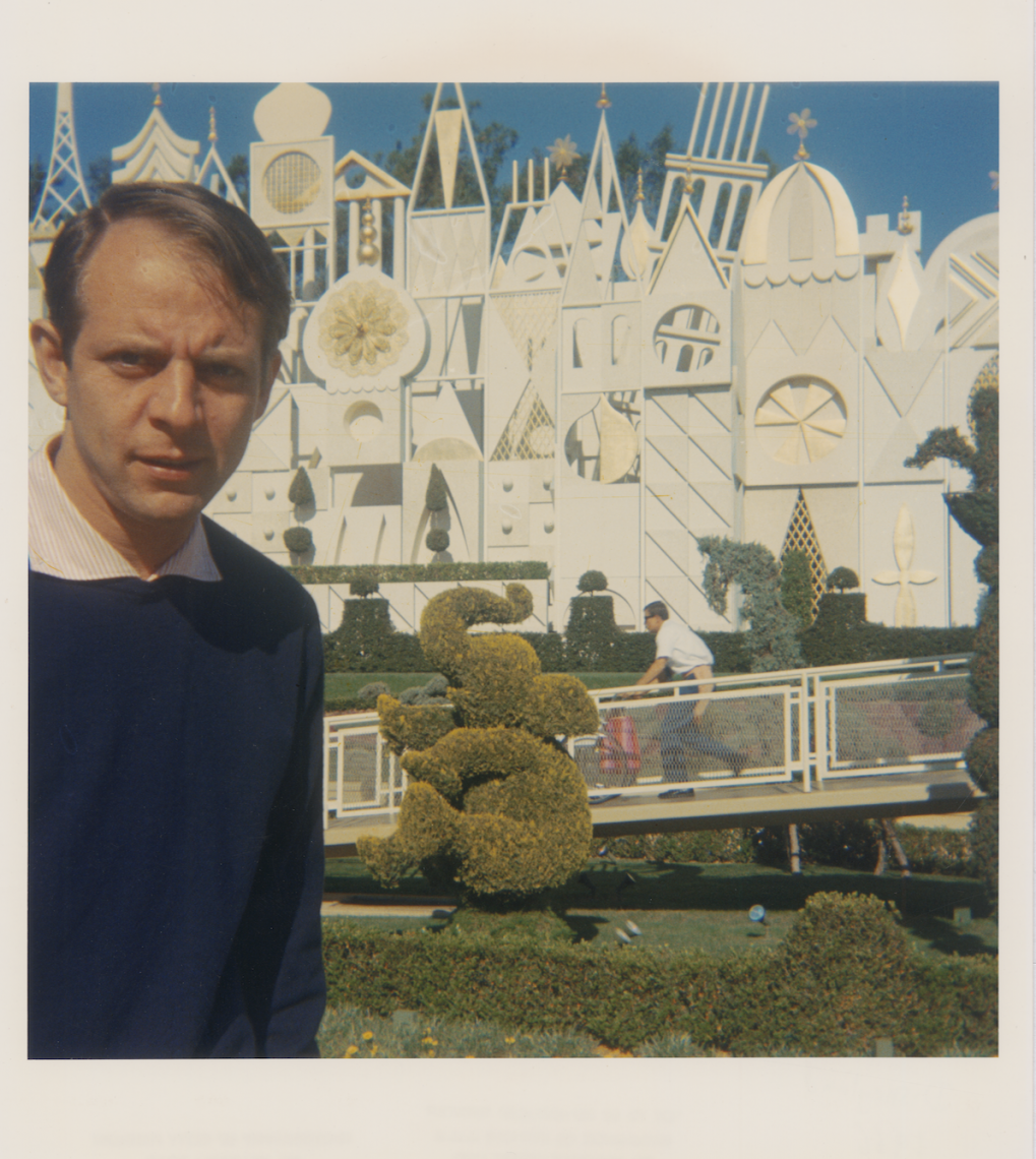 Stockhausen at Disneyland. Photo credit: Betty Freeman Papers, Los Angeles Philharmonic Archives (SC.FREE)