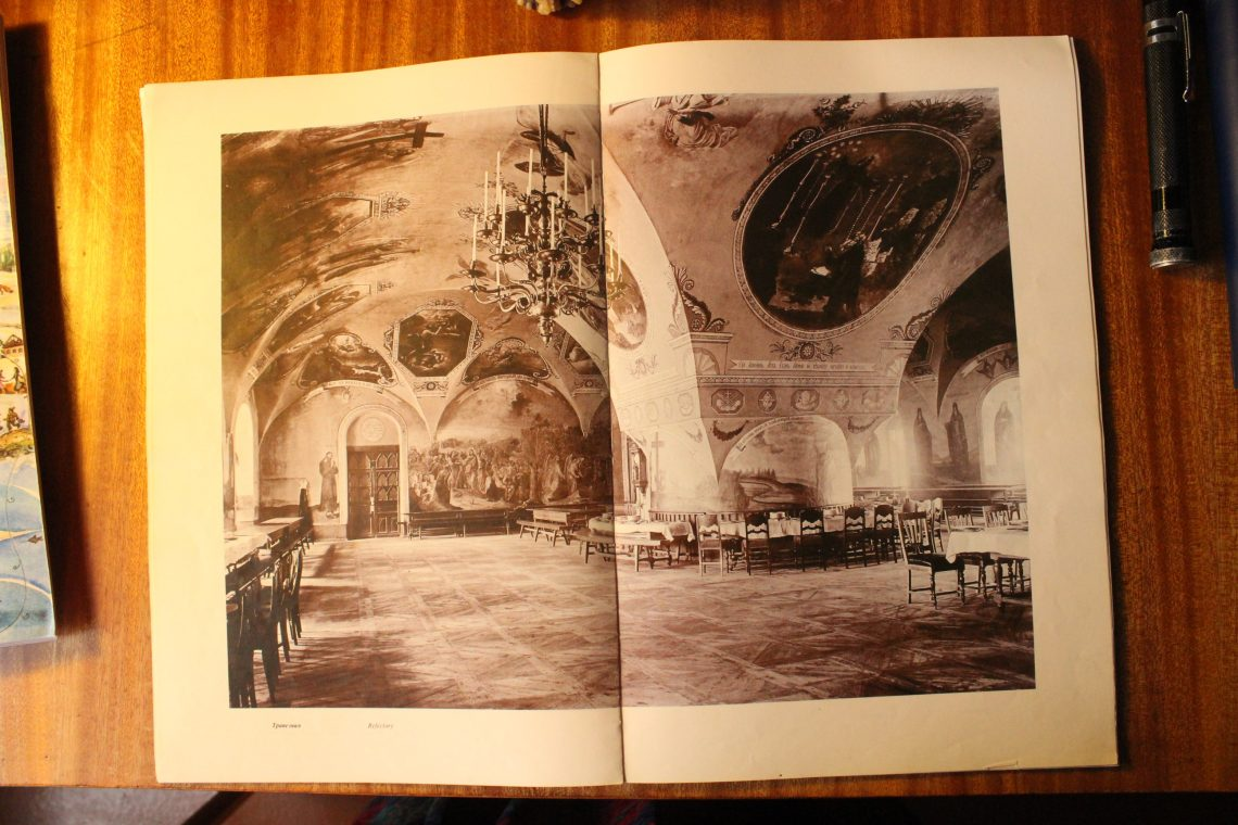 Figure 3: A picture of the Solovetsky Refectory taken in local historian Petr Leonov's study