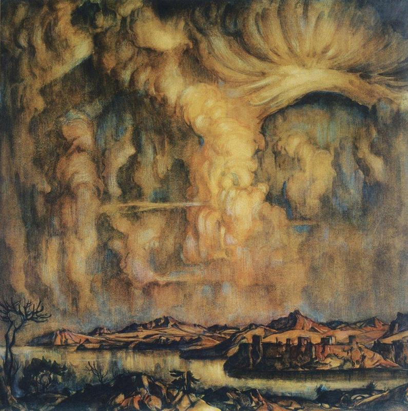 Painting by Konstantin Bogaevsky in the 1920s